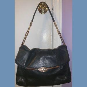 Black Coach Leather Over the Shoulder Bag